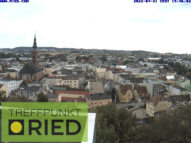 WEBkamera Ried im Innkreis - pohled na centrum